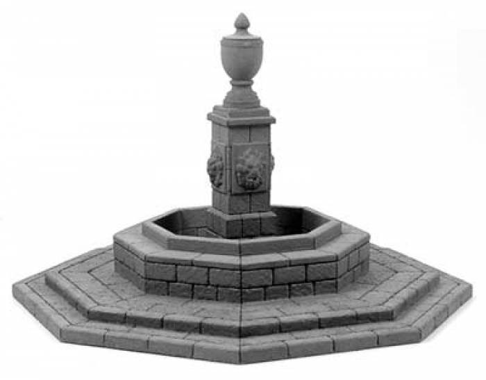 European Town Square Fountain with Octagonal Base - ZOOM in