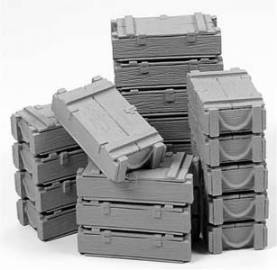 Stacked US Ammo Crates