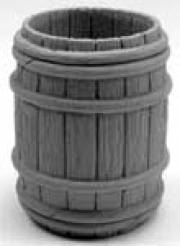 Open Half Wooden Barrels