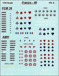 French 1940 AFV Markings for FCM36 and AMR35