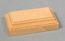 Rectangular Base - Unpainted - 3.5in x 1.2in high