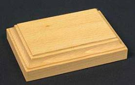 Rectangular Base - Unpainted - 4.25 x 2.7 x 1.2in high