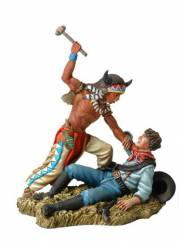 Custers Last Stand- Sioux Warrior Fighting with US Cavalryman
