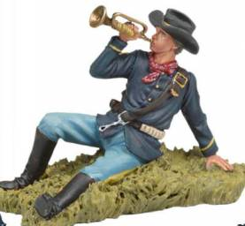 Custers Last Stand- US Bugler Laying on the Ground