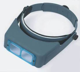 Optivisor Glass Lens Binocular Headband Magnifier with Lens Plate (2x at 10