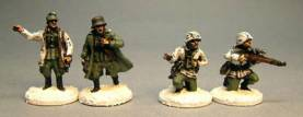 WWII German Infantry, Winter Dress Officers & Sniper Team
