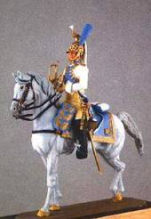 Mounted Empress Guard Dragoon Trumpeter 1806-15 - UNPAINTED KIT