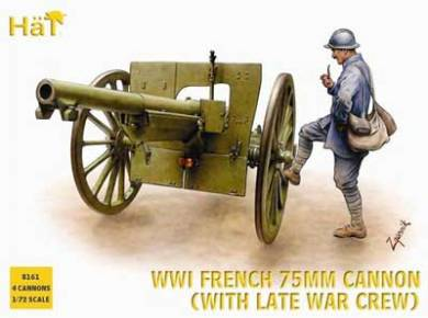 WWI French 75mm Gun with Late War Crew