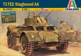 WWII British T17E2 Staghound AA