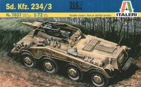 WWII German SdKfz 234/3 Heavy Armored Vehicle with 7.5cm Howitzer