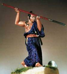 Samurai in Hitatare with Yari 1600-1867