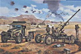 WWII British Bofors 40mm Gun and Tractor