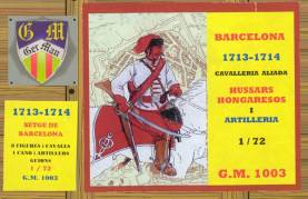 Hungarian Hussars and Artillery, Siege of Barcelona 1701-14 Only 2 Available