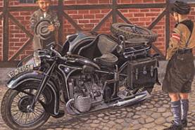 BMW R12 Motorcycle Civilian Version with Sidecar