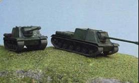 WWII Russian ISU-122 Fast Assembly Models