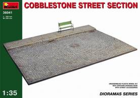 Cobblestone Street Section Diorama Base