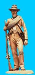 Confederate Standing Relaxed, Holding Rifle