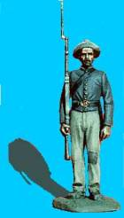 Confederate Standing at Attention, Shoulder Arms