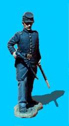 Union Officer Advancing, Pistol Drawn