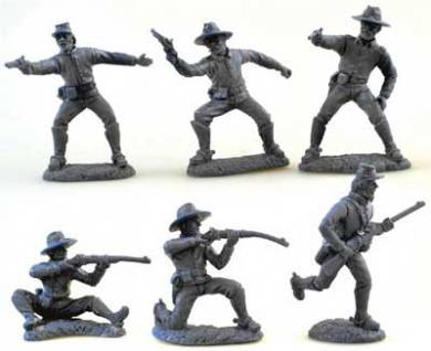 ACW Dismounted CSA Cavalry in Gray