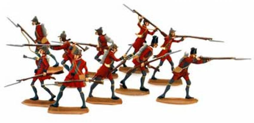 French & Indian War: British Light Infantry (10 pcs.) - ZOOM in