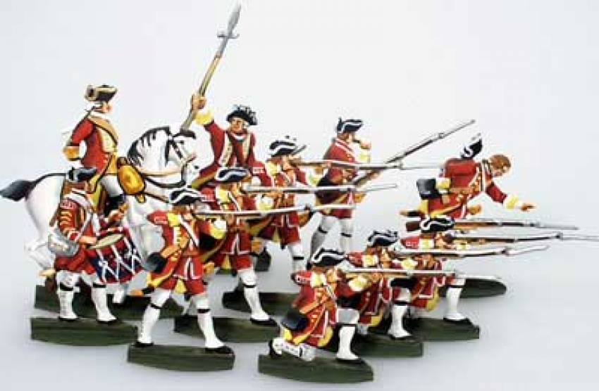 French & Indian War: British Infantry (12 pcs.) - ZOOM in