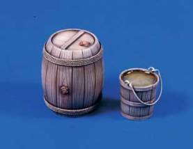 Wooden Barrel & Bucket