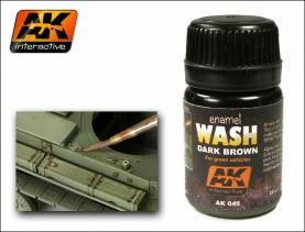 Wash- Dark brown for Green Vehicles