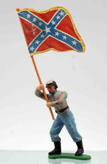Britains Swoppet Confederate Flagbearer - ZOOM in