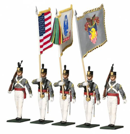 Museum Collection- United States Military Academy, West Point, Cadet Color Guard, Present Day - 5 Piece Set - ZOOM in