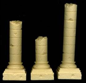 Romanesque Ruined Square Base Column Combo Pack