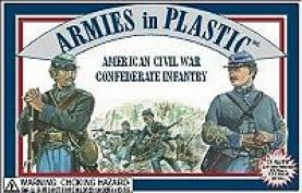 American Civil War Confederate Infantry in Grey