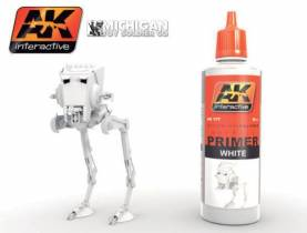 AK White Acrylic Primer 60ml Bottle