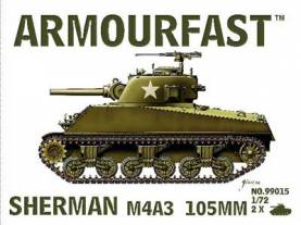 WWII US Sherman M4A3 105mm