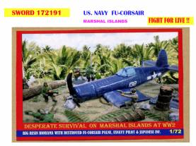WWII US Navy in the Marshall Islands - Downed Corsair Diorama Only 1 Available