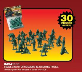 Classic Green Army Men U.S. Soldiers 45mm