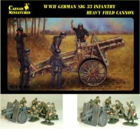 Military Series: WWII German SiG33 Infantry Heavy Field Cannon with 8 Man Crew