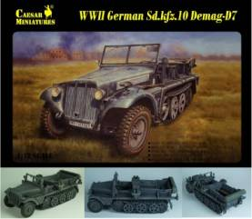 Military Series: WWII German SdKfz 10 Demag D7 with 3 Crew Members