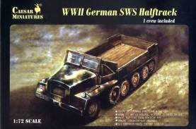 Military Series: WWII German sWS Halftrack with Figure