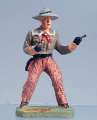 Elastolin 6970 7cm Composition Cowboy With Two Pistols