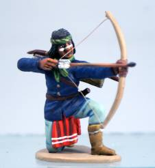 Apache in Bandana - Kneeling Firing Bow & Arrow
