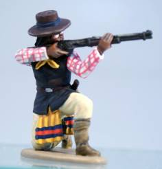 Apache in Hat - Kneeling Firing Winchester