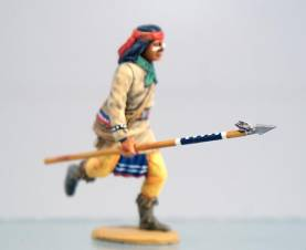 Apache in Bandana Running with Spear