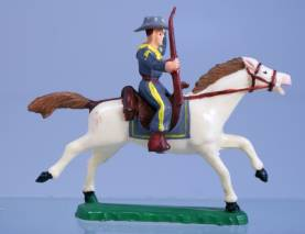 Clairet ACW Mounted Confederate With Rifle