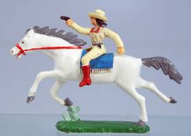 Clairet Mounted Cowgirl With Pistol