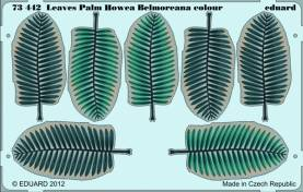 Pre Painted Photo Etched Howea Palm Leaves