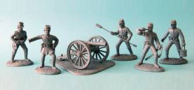 American Civil War Confederate Artillery - Gray Plastic