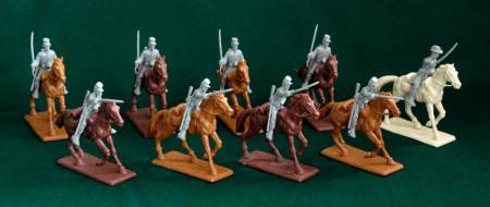 American Civil War Confederate Cavalry - Gray Plastic