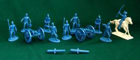 American Civil War Union Artillery - Blue Plastic