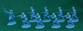 American Civil War Union Dismounted Cavalry Dragoons - Blue Plastic